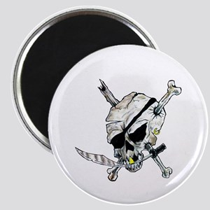 Raider Pirate Skull football Magnet