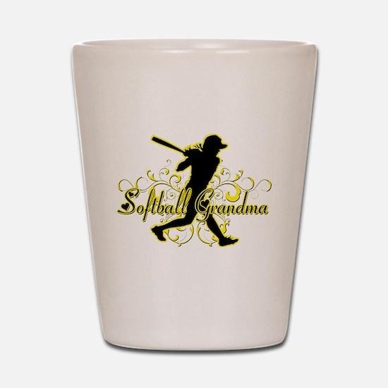 Softball Grandma (silhouette).png Shot Glass