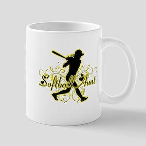 Softball Aunt (silhouette) Mug