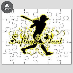 Softball Aunt (silhouette) Puzzle