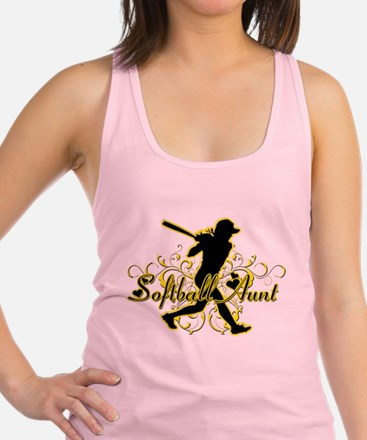 Softball Aunt (silhouette).png Racerback Tank Top