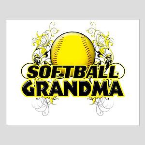 Softball Grandma (cross) Small Poster