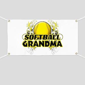 Softball Grandma (cross) Banner