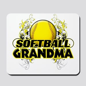 Softball Grandma (cross) Mousepad