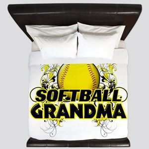 Softball Grandma (cross) King Duvet