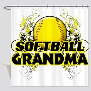 Softball Grandma (cross) Shower Curtain
