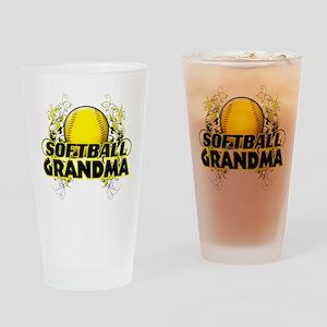 Softball Grandma (cross) Drinking Glass