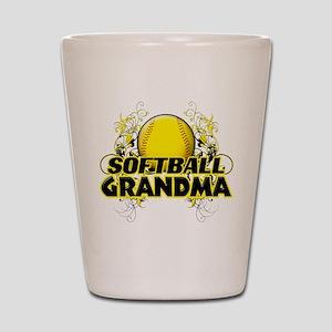 Softball Grandma (cross) Shot Glass