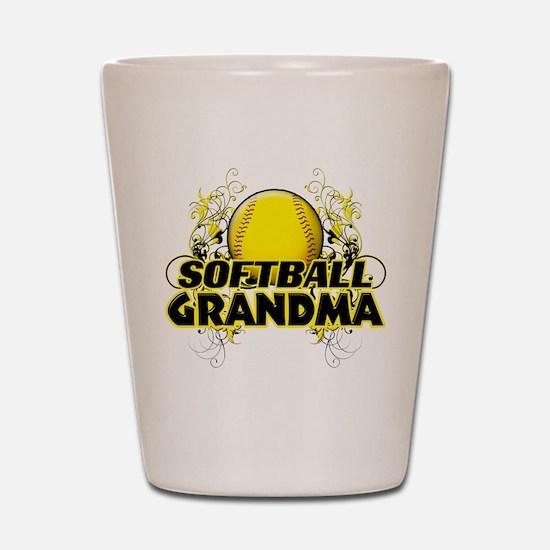 Softball Grandma (cross).png Shot Glass