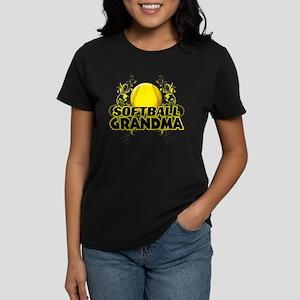 Softball Grandma (cross) Women's Dark T-Shirt