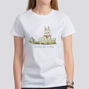 dog working white letters T-Shirt