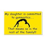 Gymnastics Mom Car Magnet 20 x 12