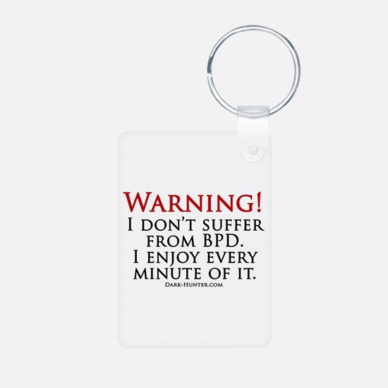 Warning BPD Aluminum Photo Keychain