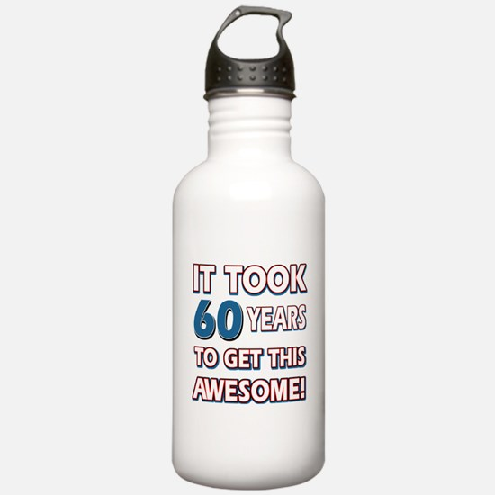60 Year Old birthday gift ideas Water Bottle