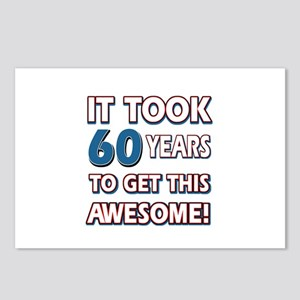 60 Year Old birthday gift ideas Postcards (Package