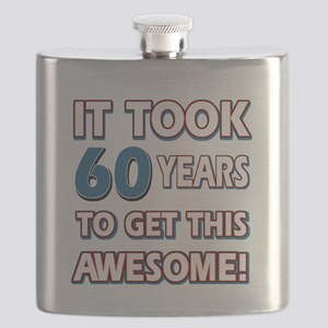 60 Year Old birthday gift ideas Flask