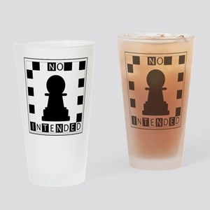 No Pawn Intended Checkered Drinking Glass