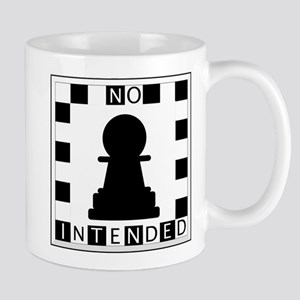 No Pawn Intended Checkered Mug