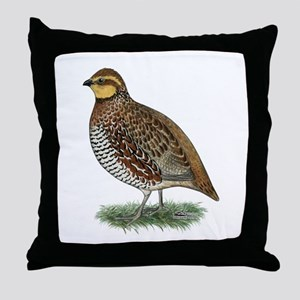 Bobwhite Quail Hen Throw Pillow