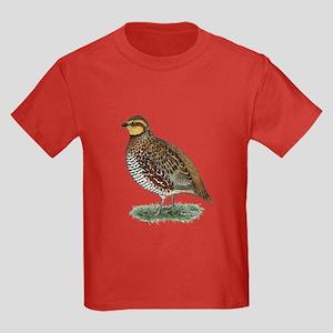 Bobwhite Quail Hen Kids Dark T-Shirt