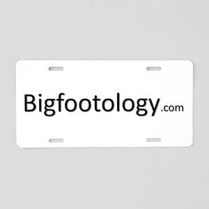 Bigfootology Logo w/White Background Aluminum Lice