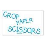 crop_blue Sticker (Rectangle 10 pk)
