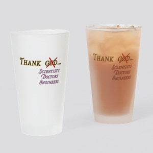 Thank Scientists Drinking Glass