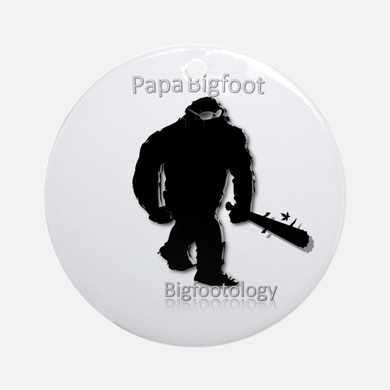 Papa Bigfoot Ornament (Round)