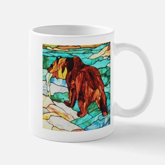 BEAR FISHING DIMPLED EFFECT Mug