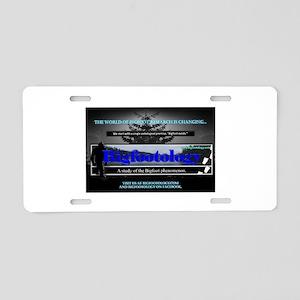Bigfootology Research Banner Aluminum License Plat