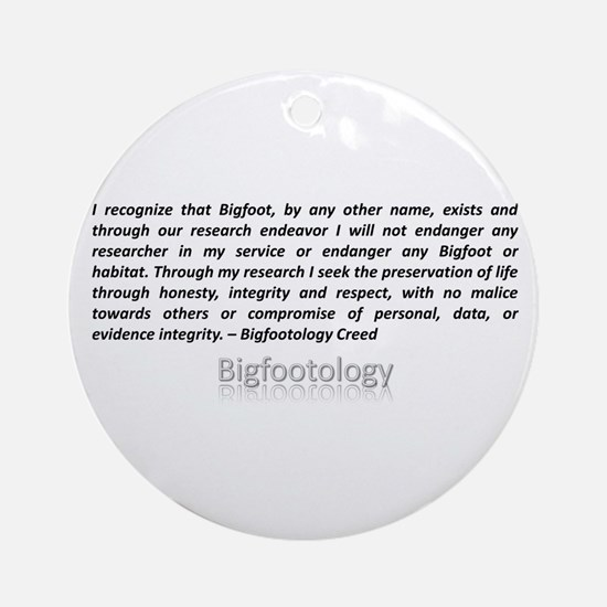 Bigfootology Creed Ornament (Round)