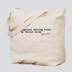 Highland dancing rocks my woolen socks Tote Bag