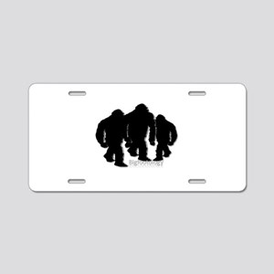 Bigfoot Family Group Aluminum License Plate