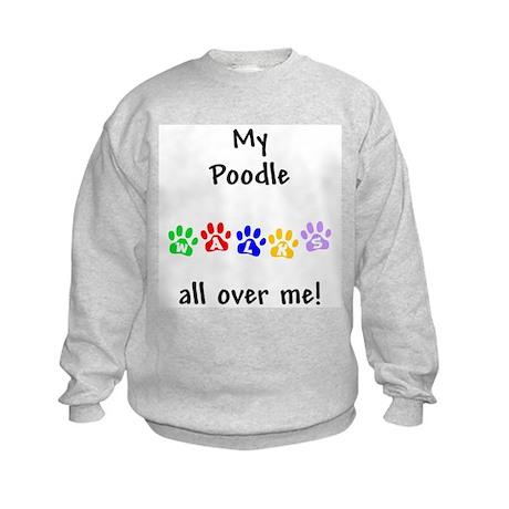 Poodle Walks Kids Sweatshirt