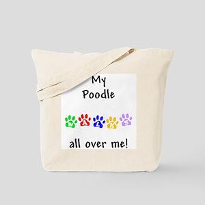 Poodle Walks Tote Bag