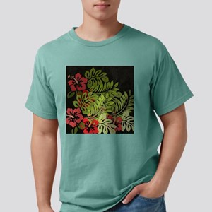 Hawaiian Flower Artwork  Mens Comfort Colors Shirt