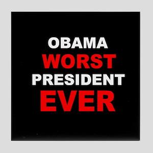 anti obama worst presdarkbumplLDK Tile Coaster