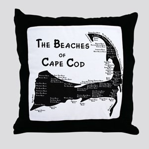 EVERY BEACH ON THE CAPE Throw Pillow