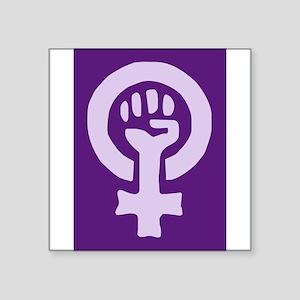 Feminist Woman Power Rectangle Sticker