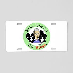 Yell Bingo Aluminum License Plate