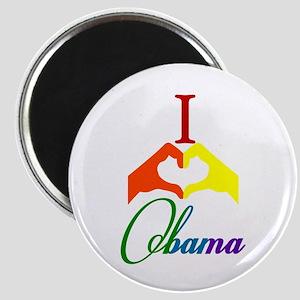 I Love Obama Rainbow Magnet