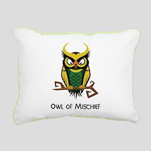 Owl of Mischief Rectangular Canvas Pillow