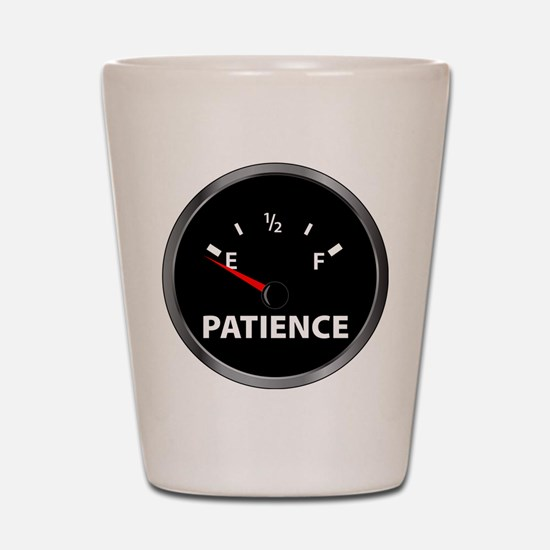 Out of Patience Fuel Gauge Shot Glass