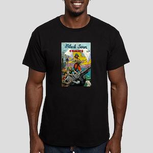 Black Swan Comis #1 Men's Fitted T-Shirt (dark)