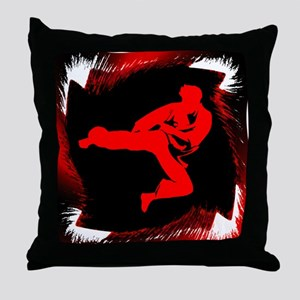 Karate Childs Male Throw Pillow