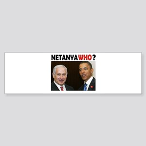 NETANYAWHO? Sticker (Bumper)