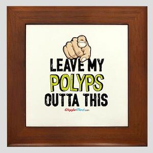 Leave Out Polyps 02 Framed Tile