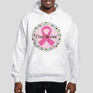 7 Year Breast Cancer Survivor Hooded Sweatshirt