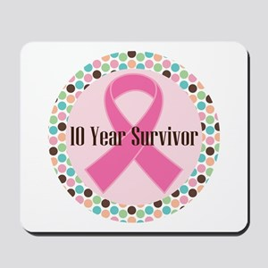 10 Year Breast Cancer Survivor Mousepad