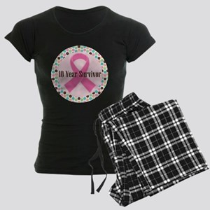 10 Year Breast Cancer Survivor Women's Dark Pajama